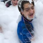 Fun in the foam pit at Silly-O!
